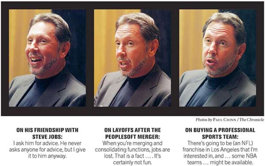 Larry Ellison, Oracle Corp. CEO. Chronicle photos by Paul Chinn