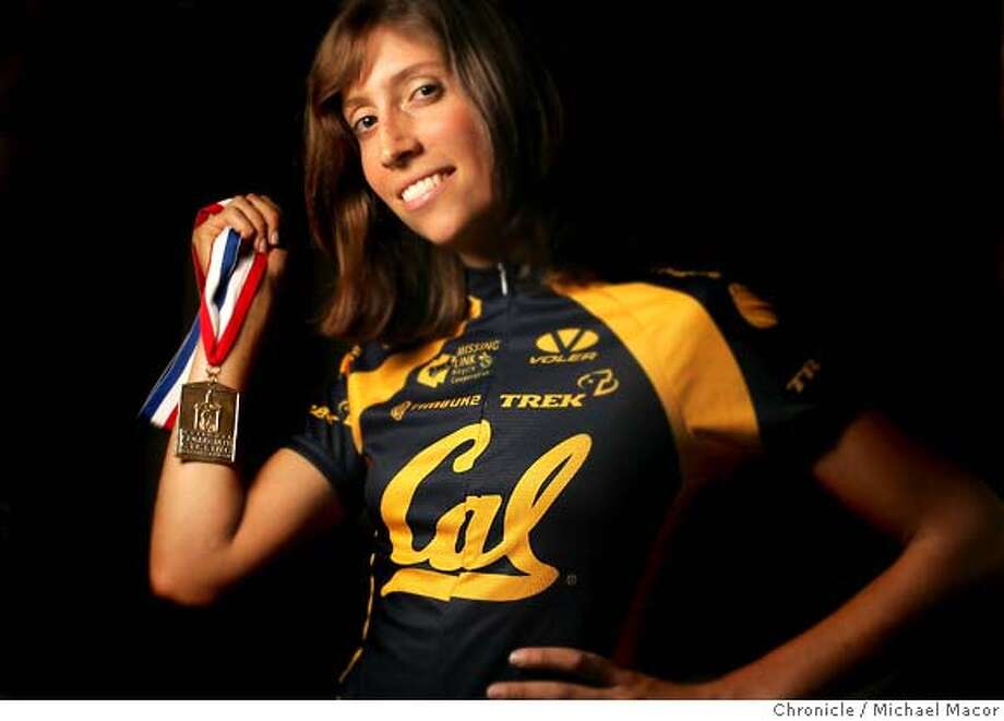 Stefanie Greater, 22, is a senior at UC Berkeley, and the defending national champion in road race bicycling. She will be leading Cal after its fourth straight national collegiate title the weekend of May 15. 3/25/05 Berkeley, Ca Michael Macor / San Francisco Chronicle Photo: Michael Macor