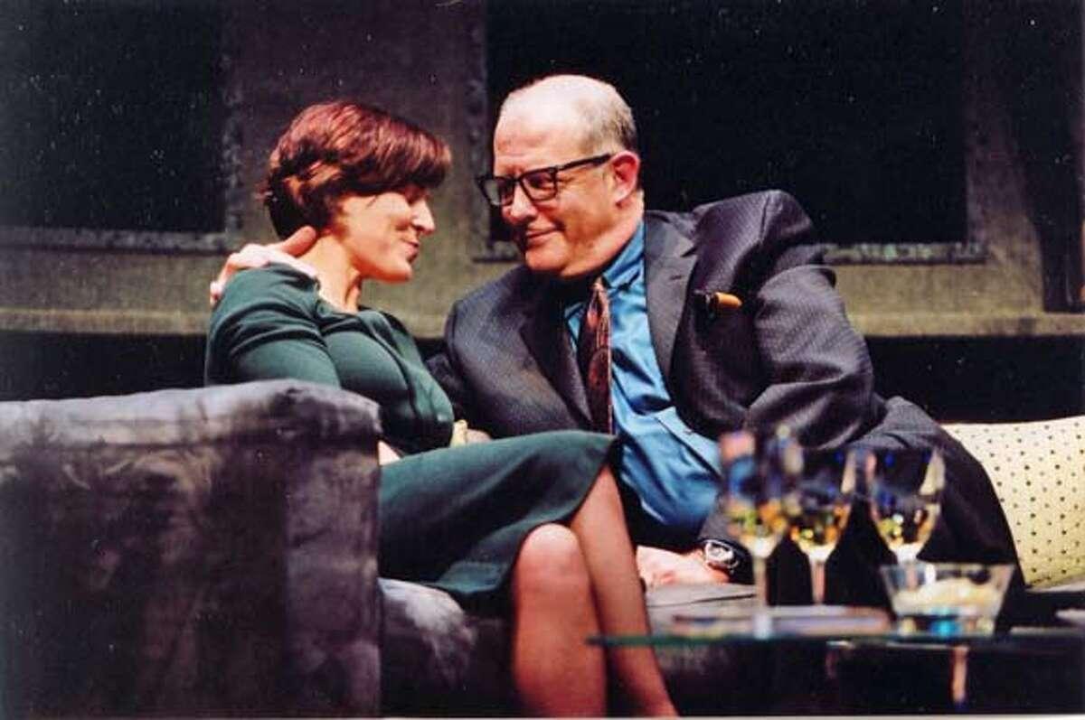 (L-R) Delia MacDougall (Sonia) and Warren David Keith (Hubert)