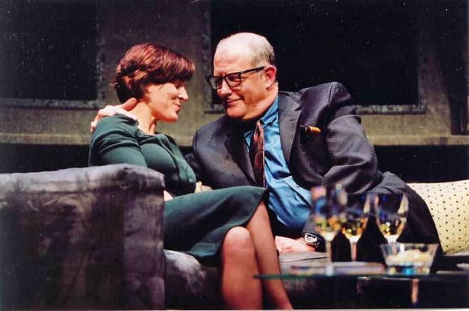 (L-R) Delia MacDougall (Sonia) and Warren David Keith (Hubert) Photo: Ed Smith