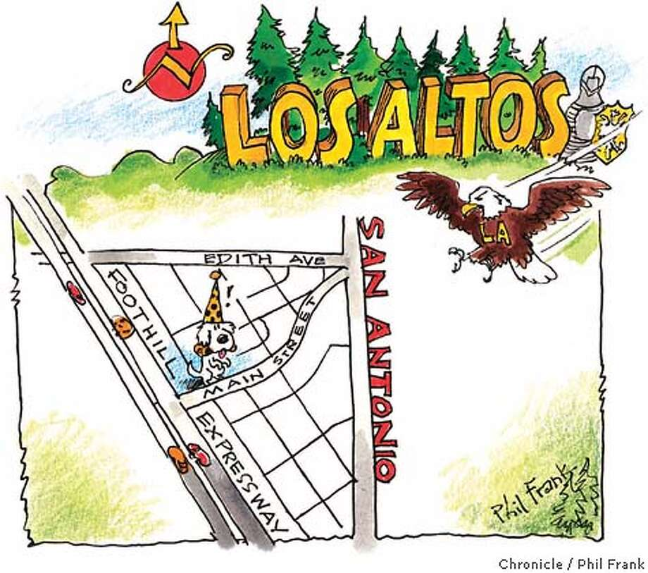 Los Altos. Chronicle illustration by Phil Frank