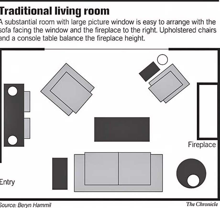 Traditional Living Room. Chronicle Graphic Photo: Terri Hunter-Davis
