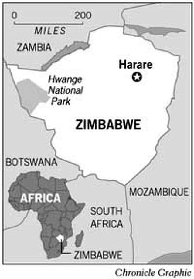 Hwange National Park, Zimbabwe. Chronicle Graphic