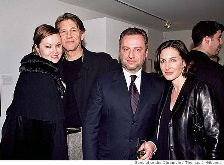 (Left to righ): Tatiana Sorokko, Peter Coyote, Serge Sorokko and Stephanie Coyote at the Pat York opening at the Sorokko Gallery Living#Living#Chronicle#11/14/2004#ALL#Advance#M8#0422458789