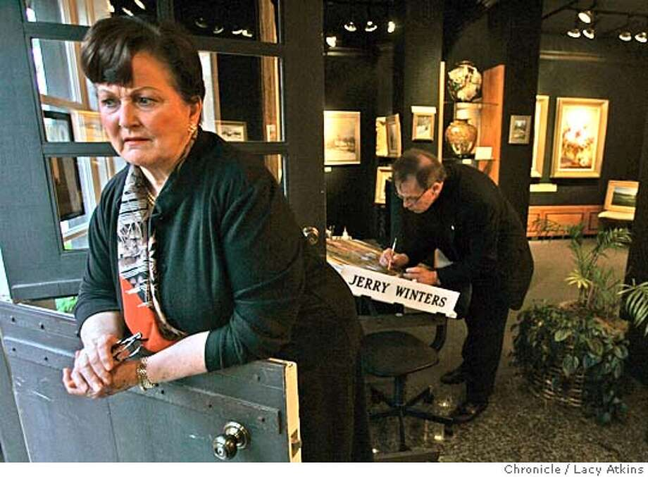 Joan and Jerry Winters while working at one of their galleries, Nov.11,2004, talk about the moratorium that the city of Carmel is putting in place restricting the amount of galleries.-----THE CITY OF CARMEL PUTS A MORATORIUM ON THE AMOUNT OF GALLERIES, NOV. 12, 2004. LACY ATKINS/SAN FRANCISCO CHRONICLE Metro#Metro#Chronicle#11/14/2004#ALL#5star##0422463979 Photo: LACY ATKINS