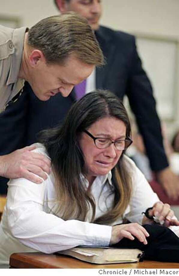 A Contra Costa County bailiff seats nanny Jimena Barreto as she awaits the jury's verdict in a Martinez, Calif., courtroom Wednesday, May 4, 2005. A jury convicted Barreto of two counts of second-degree murder in the hit-and-run deaths of Troy Pack, 10, and his sister Alana Pack, 7, who were struck down on a sidewalk near their home during an evening stroll with their mother in October 2003. Barreto was also convicted of leaving the scene of an accident, driving under the influence and driving with a suspended license. (AP Photo/Pool, Michael Macor) POOL PHOTO Photo: MICHAEL MACOR
