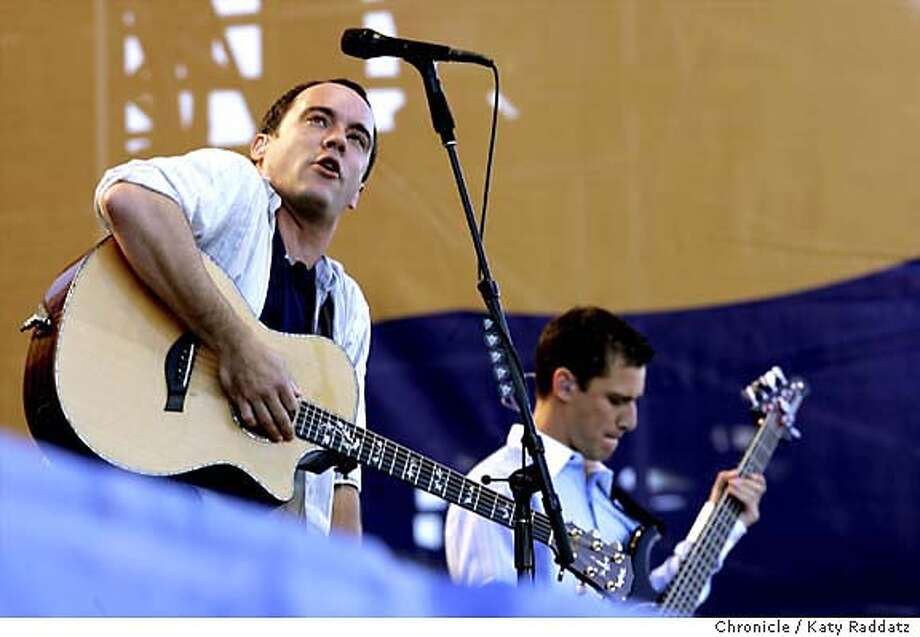 The Dave Matthews Band performs a free concert in Golden Gate Park at the Polo Fields. Katy Raddatz / The Chronicle Photo: Katy Raddatz
