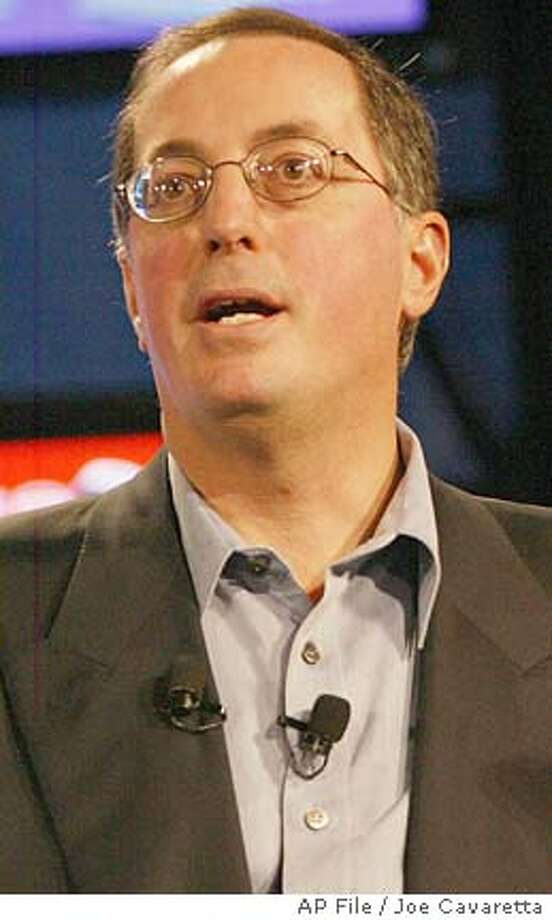 ** FILE ** Paul Otellini, President and C.O.O. of Intel Corp.,speaks at the Consumer Electronics Show at the Las Vegas Convention Center Thursday, Jan. 8, 2004. Otelliniwill replace Intel chief executive Craig Barrett when he steps aside to become chairman in May, the chip giant's board of directors announced Thursday, Nov. 11, 2004. (AP Photo/Joe Cavaretta) JAN. 8, 2004, PHOTO Business#MainNews#Chronicle#11/12/2004#ALL#5star##0422461722 Photo: JOE CAVARETTA