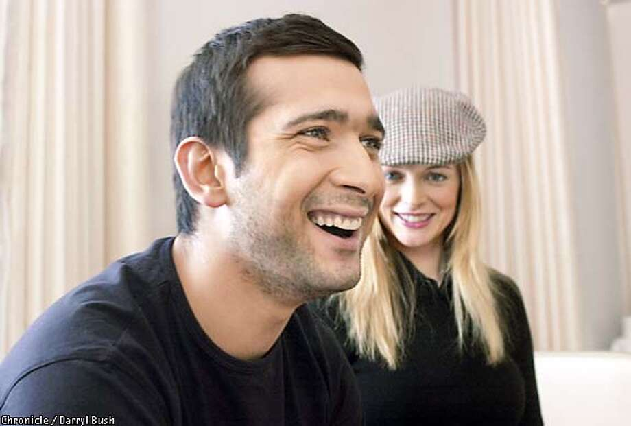 "Jimi Mistry and Heather Graham, co-stars in ""The Guru,"" during a recent visit to San Francisco. Chronicle photo by Darryl Bush"