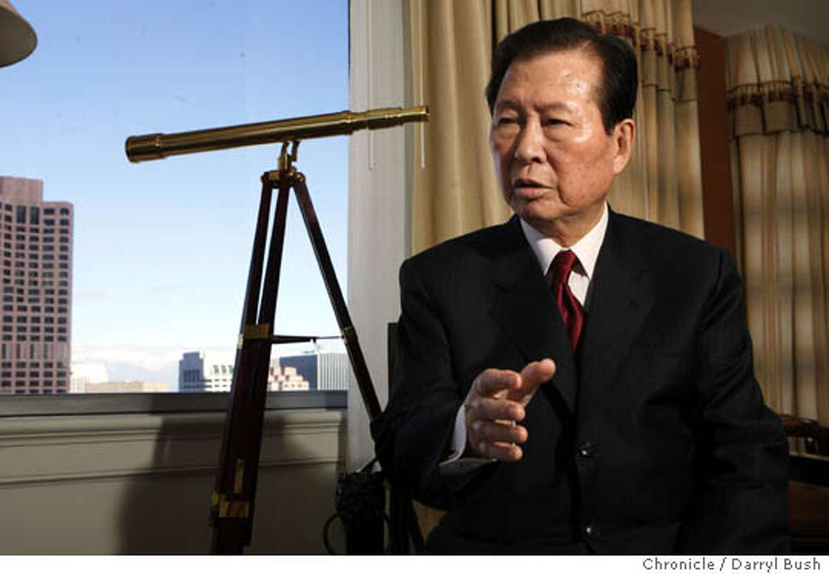 Former South Korean president, Kim Dae Jung speaks from hotel room at Fairmont hotel. Event on 4/28/05 in San Francisco. Darryl Bush / The Chronicle