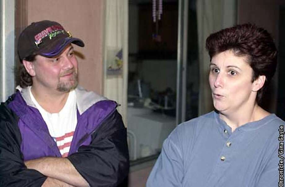 Carol Warner (R) shown here with husband Steve(check husband's name in story) talks about having a winning lottery ticket and misplacing it. She doesn't even know if she wants to cash it in if they find it. The jackpot is worth $84 million. Photo by Gina Gayle/The SF Chronicle. Photo: GINA GAYLE