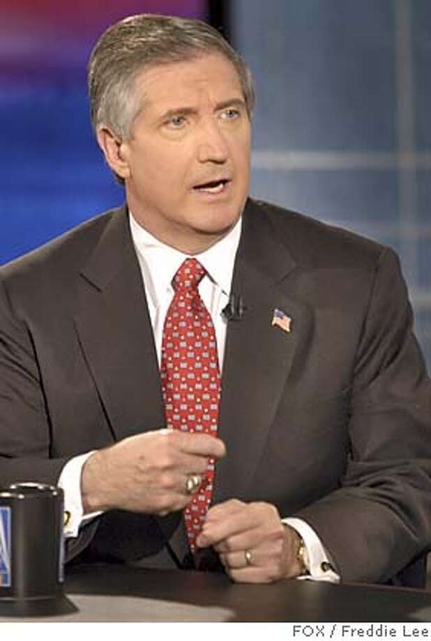 "** FILE ** White House Chief of Staff Andy Card, speaks during an interview with FOX News Sunday in this Dec. 6, 2003 file photo, in Washington. President Bush asked Card to remain as White House chief of staff, the president's spokesman Scott McClellan said Monday, Nov. 8, 2004. ""Andy Card was honored to accept,"" McClellan said of the 57-year-old Holbrook, Mass., native. (AP Photo/FOX, Freddie Lee, File) NO ARCHIVE MANDATORY CREDIT: FOX NEWS SUNDAY, DEC. 6, 2003 FILE PHOTO Nation#MainNews#Chronicle#11/9/2004#ALL#5star##0422457100 Photo: FREDDIE LEE"