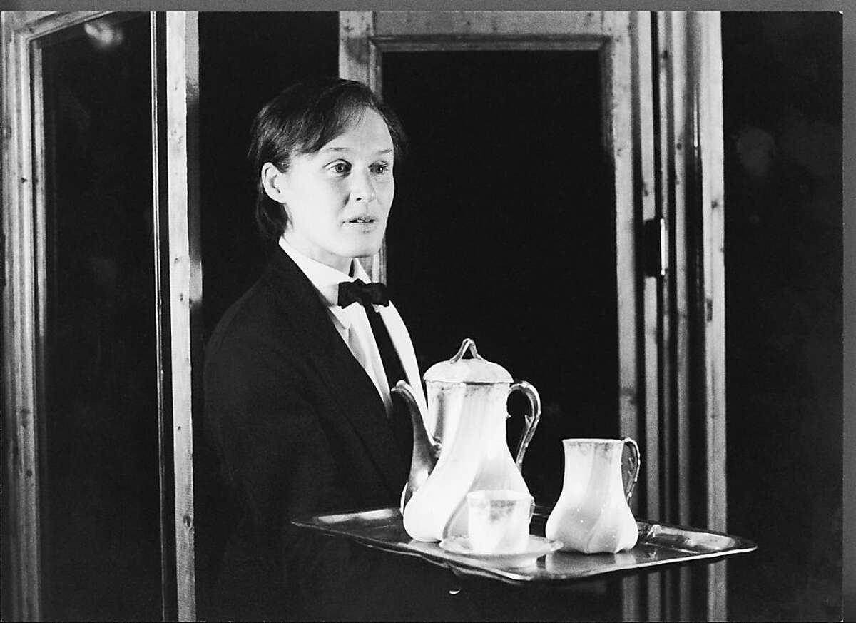 Glenn Close in a scene from the American Premier production of THE SINGULAR LIFE OF ALBERT NOBBS, the fifth and final Manhattan Theatre Club Downstage production of the 1981-82 season running June 7th - July 10th. Photo credit: Gerry Goodstein