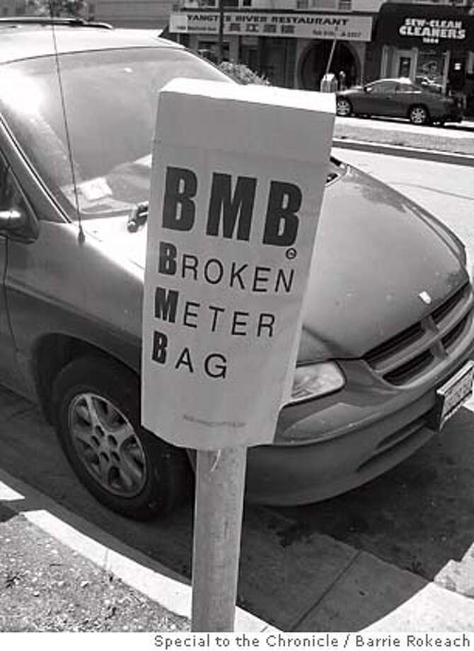 Photo of Broken Meter Bag. Photo by Barrie Rokeach/Special to The Chronicle Photo: Barrie Rokeach/Special To The Ch
