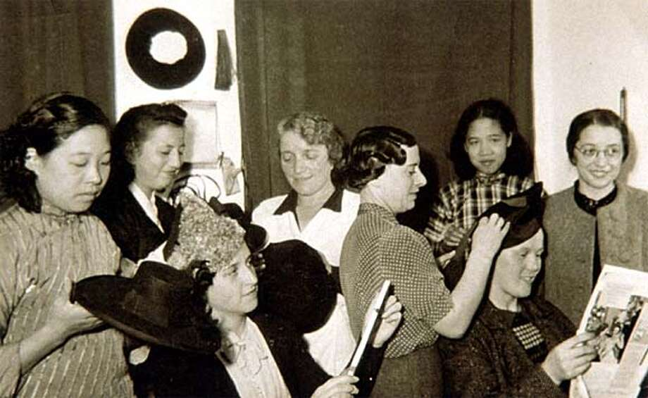 Director Dana Janklowicz-Mann's grandmother (fourth from right) made her living making women's hats.