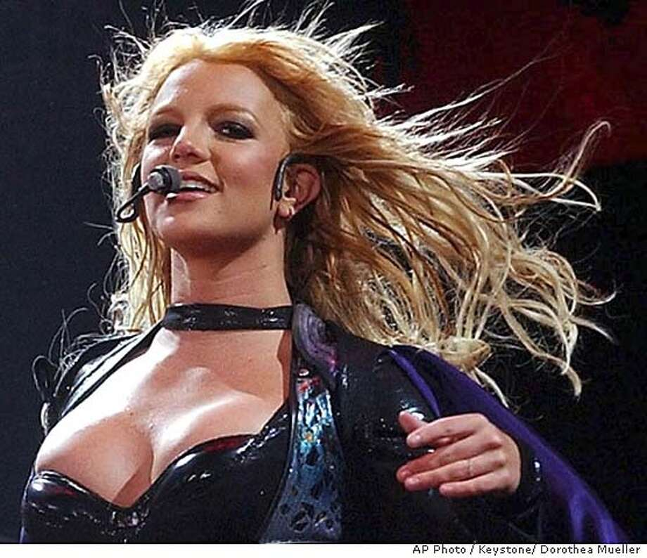 "Britney Spears performs in Zurich, Switzerland, Thursday, May 20, 2004, during her European ""The Onyx Hotel Tour."" (AP Photo/Keystone/Dorothea Mueller) Peter Rowan will perform at the Great American Music Hall on June 22. Peter Rowan will perform at the Great American Music Hall on June 22. Datebook#Datebook#SundayDateBook#11-07-2004#ALL#Advance##0421776163 Datebook#Datebook#SundayDateBook#11-07-2004#ALL#Advance##0421776163 Photo: DOROTHEA MUELLER"