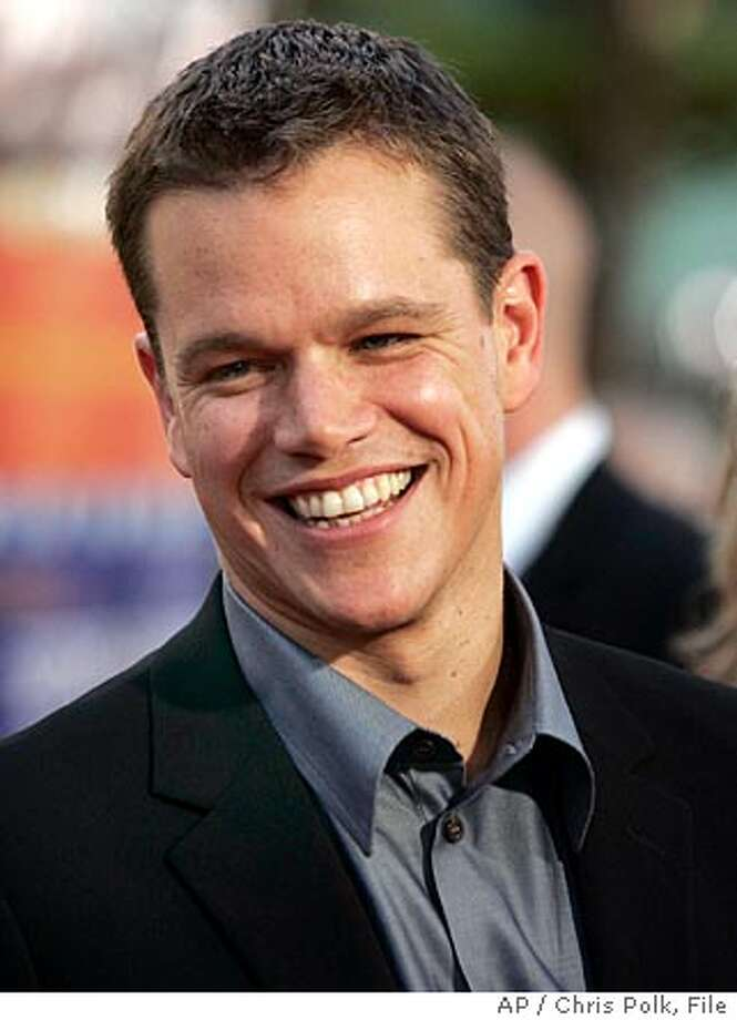 "Actor Matt Damon arrives for the world premiere of ""The Bourne Supremecy,"" in Los Angeles Thursday, July 15, 2004. As an assassin on-the-run in the film, Damon can take a real punch, absorb a real car crash and wave a real gun around to terrify his co-stars - but he's got to fake that tricky Russian dialogue. (AP Photo/Chris Polk) Ran on: 07-22-2004  ProductName	Chronicle Ran on: 07-22-2004  ProductName	Chronicle Ran on: 07-22-2004  ProductName	Chronicle Ran on: 07-22-2004  ProductName	Chronicle Photo: CHRIS POLK"
