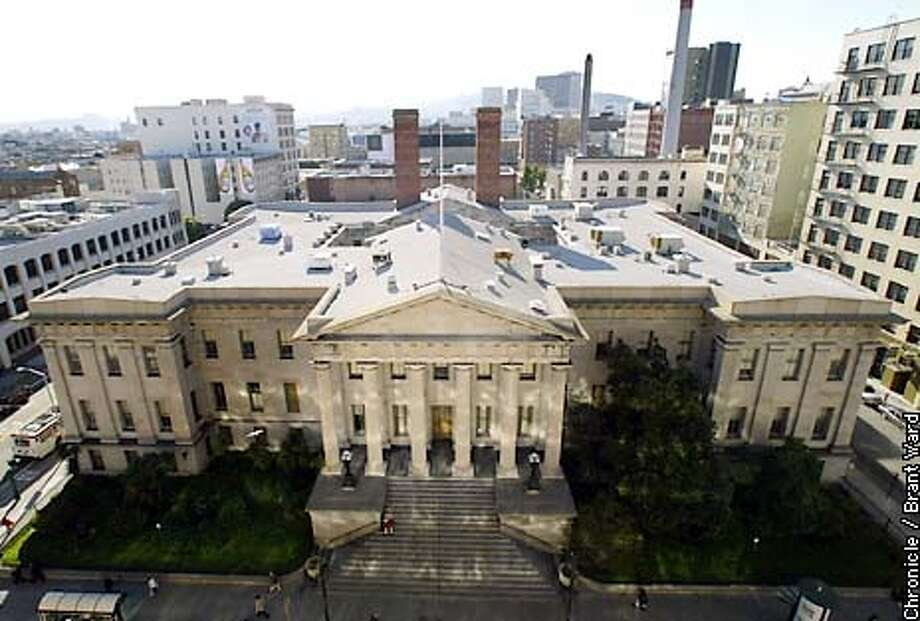 A view of San Francisco's Old Mint at Fifth and Mission Streets. By Brant Ward/Chronicle