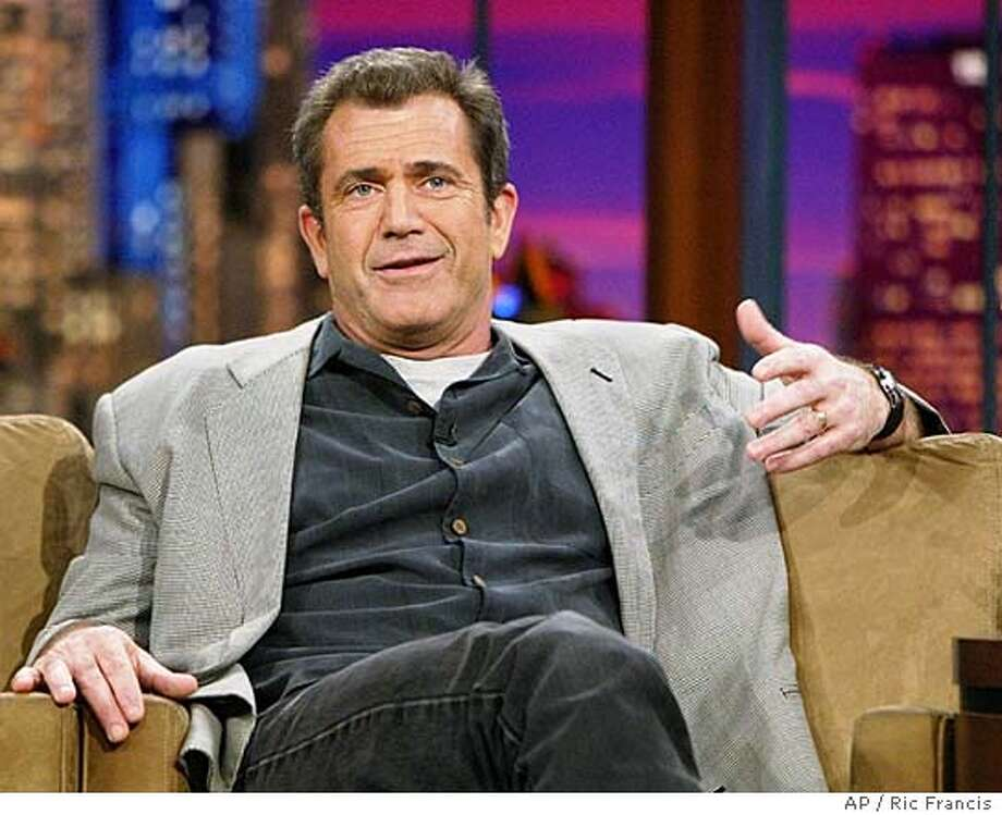 "Mel Gibson, director, co-writer and producer of the new movie ""The Passion of the Christ,"" appears on the Tonight Show with Jay Leno Thursday, Feb. 26, 2004, in Burbank, Calif. The film opened last Wednesday. (AP Photo/Ric Francis) Mel Gibson: envisioning Jesus as Norwegian? Insight#Insight#Chronicle#11/07/2004#ALL#2star##0421651583 Photo: RIC FRANCIS"