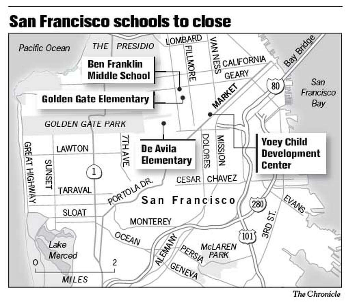San Francisco Schools to Close. Chronicle Graphic