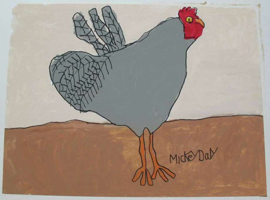 """Sylvester"" by Fairfield resident Michael Daly gives a folk art feel to  the month of November in The Kennedy Center Inc.'s 2012 calendar. Photo: Contributed Photo"