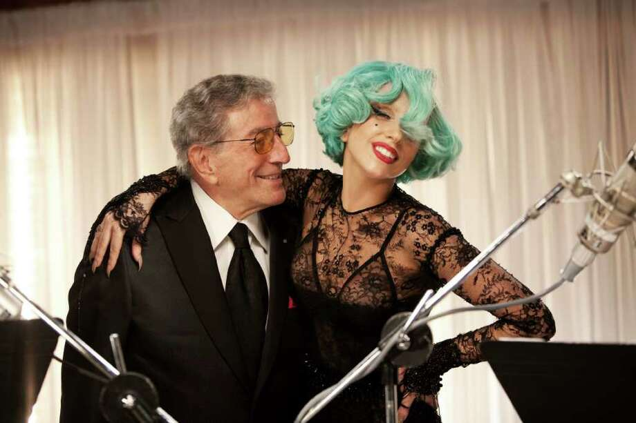 "Tony Bennett and Lady Gaga sing together during ""Tony Bennett: Duets II."" Photo: PBS"
