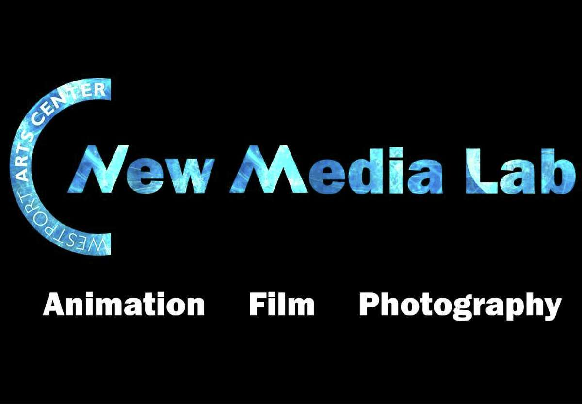 Above is the logo for the Westport Arts Center's New Media Lab on Main Street, slated to open Thursday, Feb. 9.