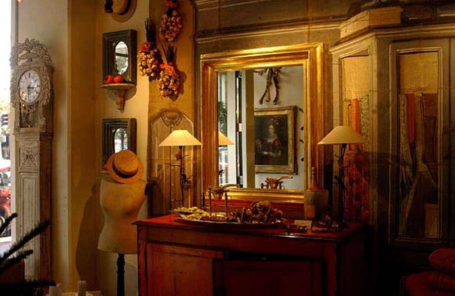 Authentic French: Myra Hoefer's Healdsburg store has reproductions and antiques.