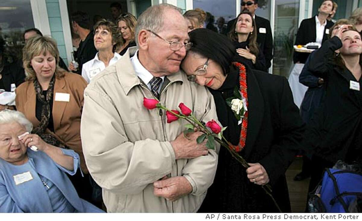 Cliff and Nancy Ruzicka, parents of Marla Ruzicka, comfort one another Saturday April 23, 2005 in Lakeport Calif, during a memorial for their daughter. Marla Ruzicka, an American activist, was killed by a car bomb in Iraq April 16, 2005. (AP Photo/Santa Rosa Press Democrat, Kent Porter) Ran on: 04-24-2005 Marla Ruzicka was killed on April 15 by a suicide car bombing on the airport road in Baghdad.