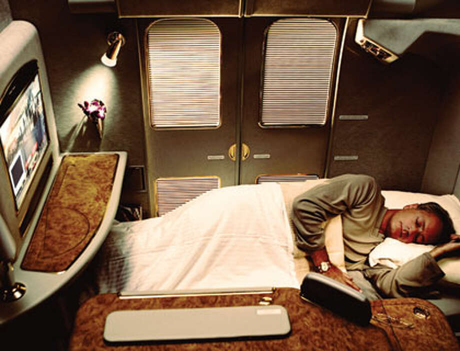 An Emirates First-Class suite. Photo: Emirates