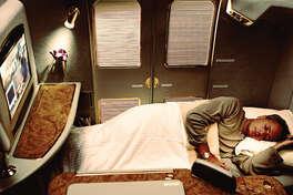 An Emirates First-Class suite.