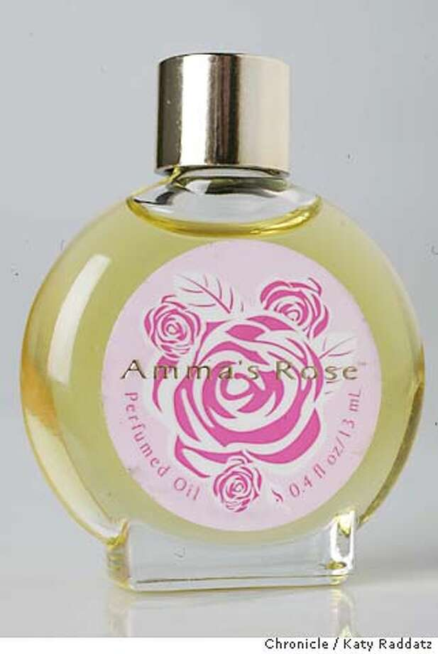 MW01031_RAD.JPG ROSE related beauty products: Amma's Rose perfume oil. Photo taken on 4/21/05, in SAN FRANCISCO, CA.  By Katy Raddatz / The San Francisco Chronicle MANDATORY CREDIT FOR PHOTOG AND SF CHRONICLE/ -MAGS OUT Photo: Katy Raddatz