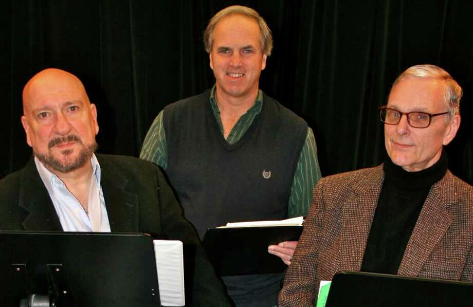 "Actors Tom Zingarelli and Keir Dullea will give a reading of ""A Small World,"" a new play by Fred Stroppel, center, at the Fairfield Museum and History Center on Sunday, Jan. 22. Photo: Contributed Photo"