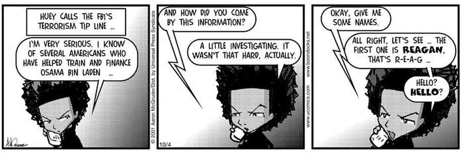 Boondocks comic strip  HANDOUT PHOTO/VERIFY RIGHTS AND USEAGE Photo: HANDOUT