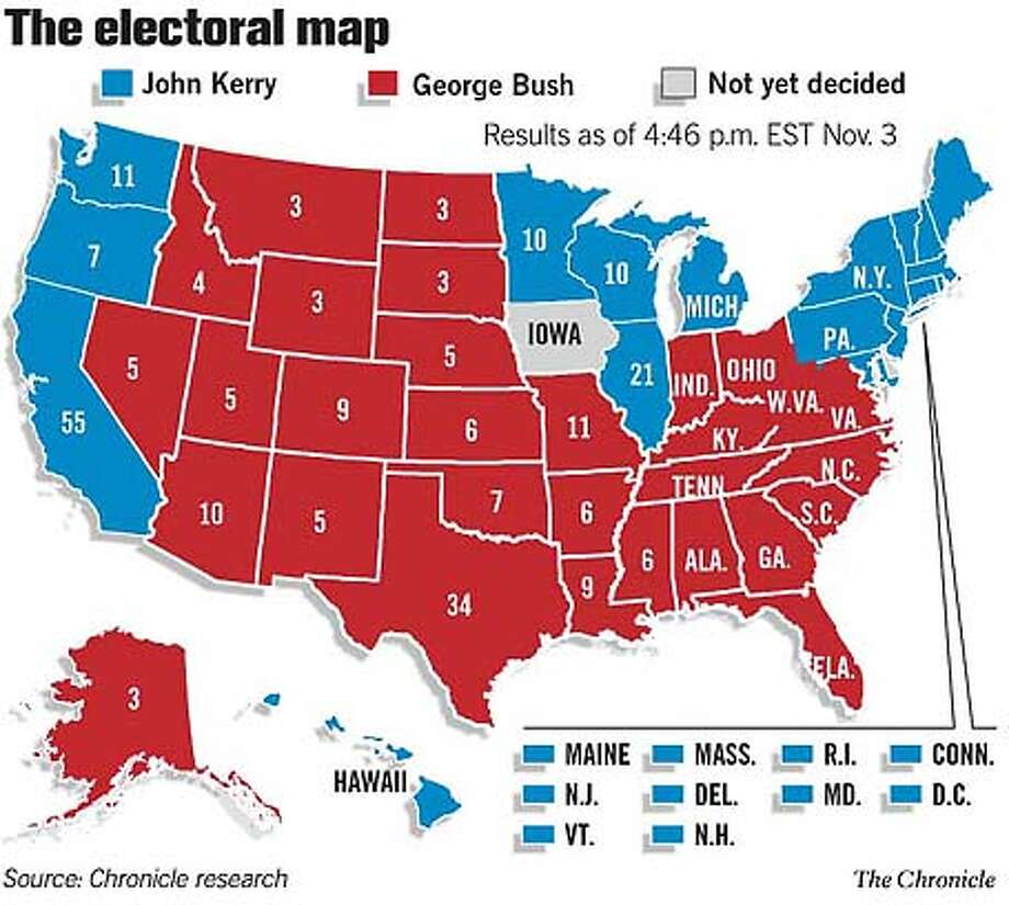 The Electoral Map. Chronicle Graphic