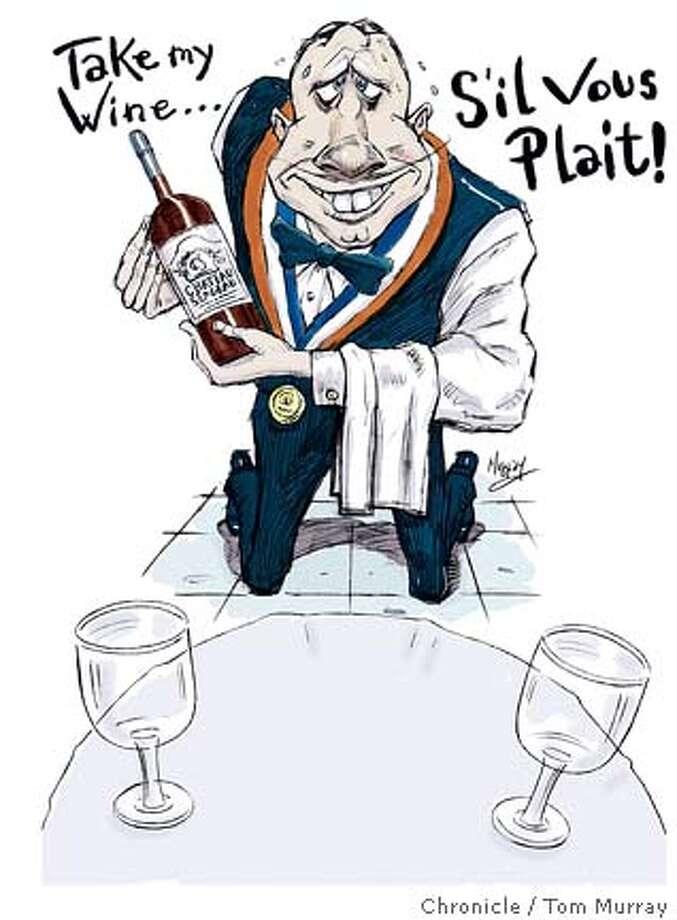 groveling french waiter Photo: Tom Murray