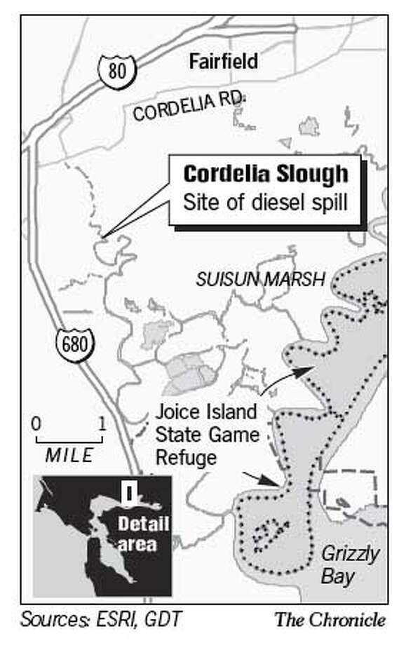 Cordella Slough. Chronicle Graphic