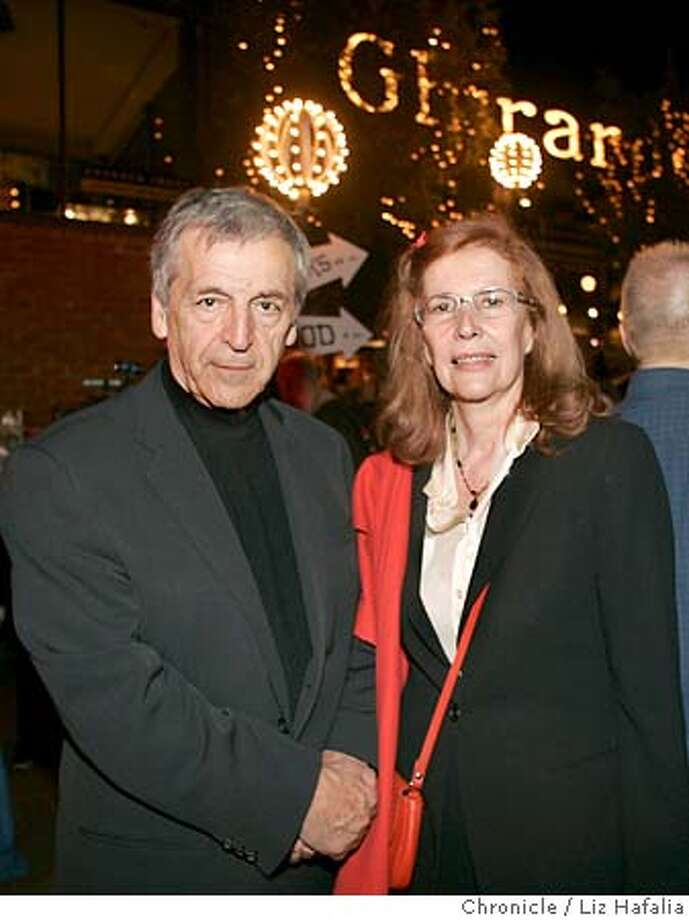 "Opening night party for the San Francisco International Film Festival is an open-air event this year at Ghirardelli Square where director Costa-Gavras, whose film ""The Ax"", is opening the festival. Shot in San Francisco on 4/21/05. Photo: Liz Hafalia"