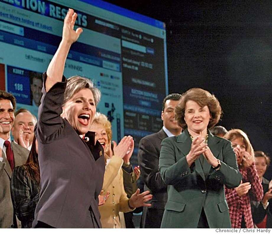 Barbara Boxer victory celebrationSan Francisco,CA on 11/2/04  San Francisco Chronicle/Chris Hardy Photo: Chris Hardy