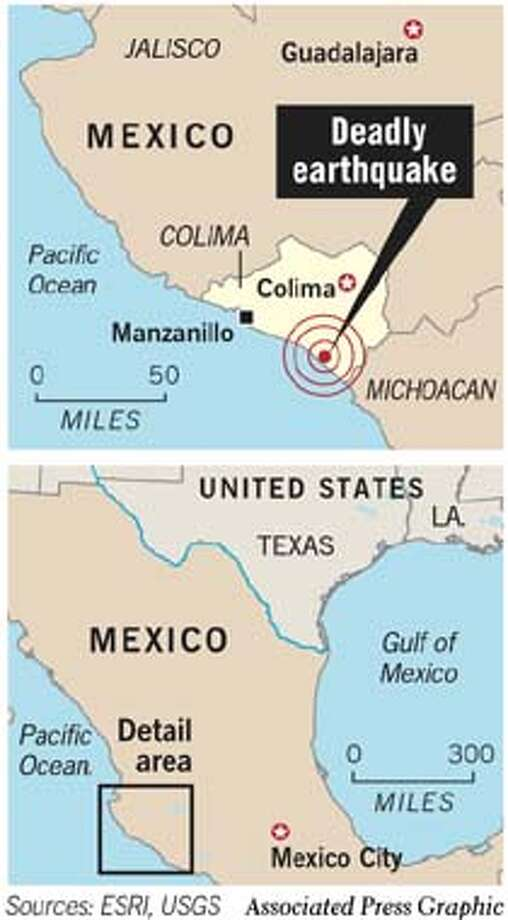 Deadly Earthquake in Mexico. Associated Press Graphic