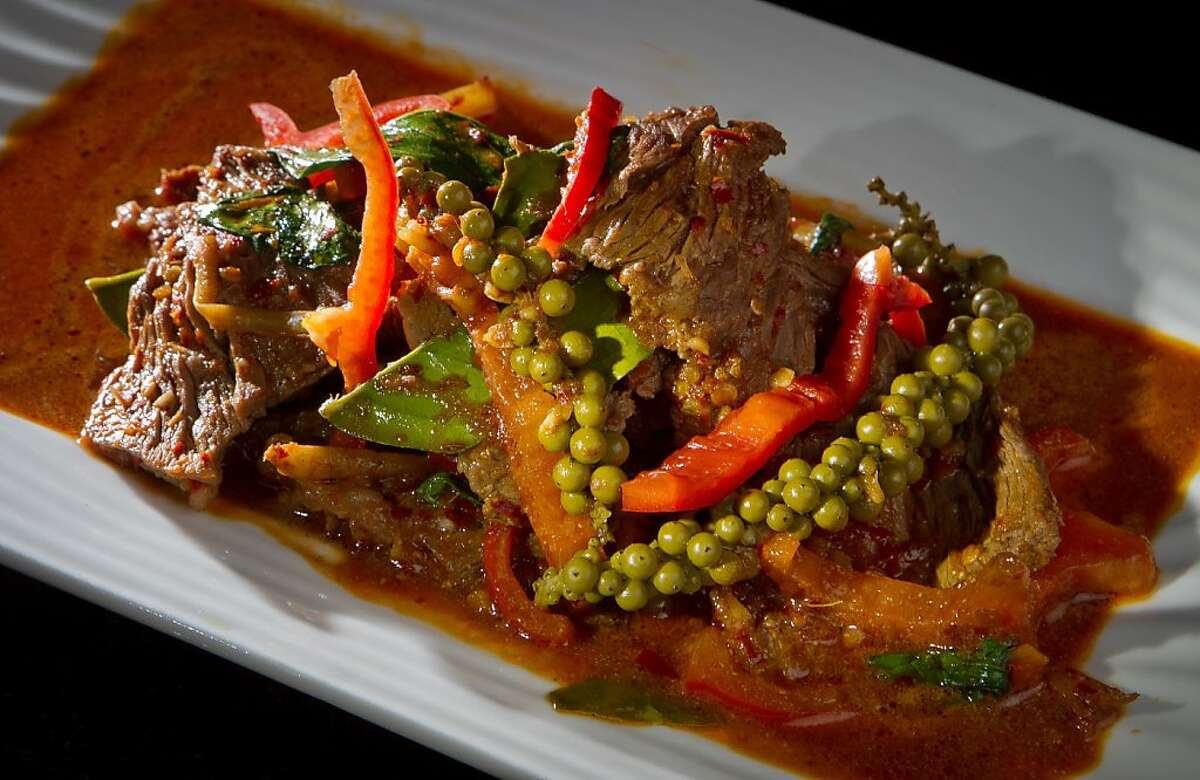 Beef with young Peppercorns being at Lers Ros restaurant in San Francisco, Calif., is seen on Friday, January13th, 2012.
