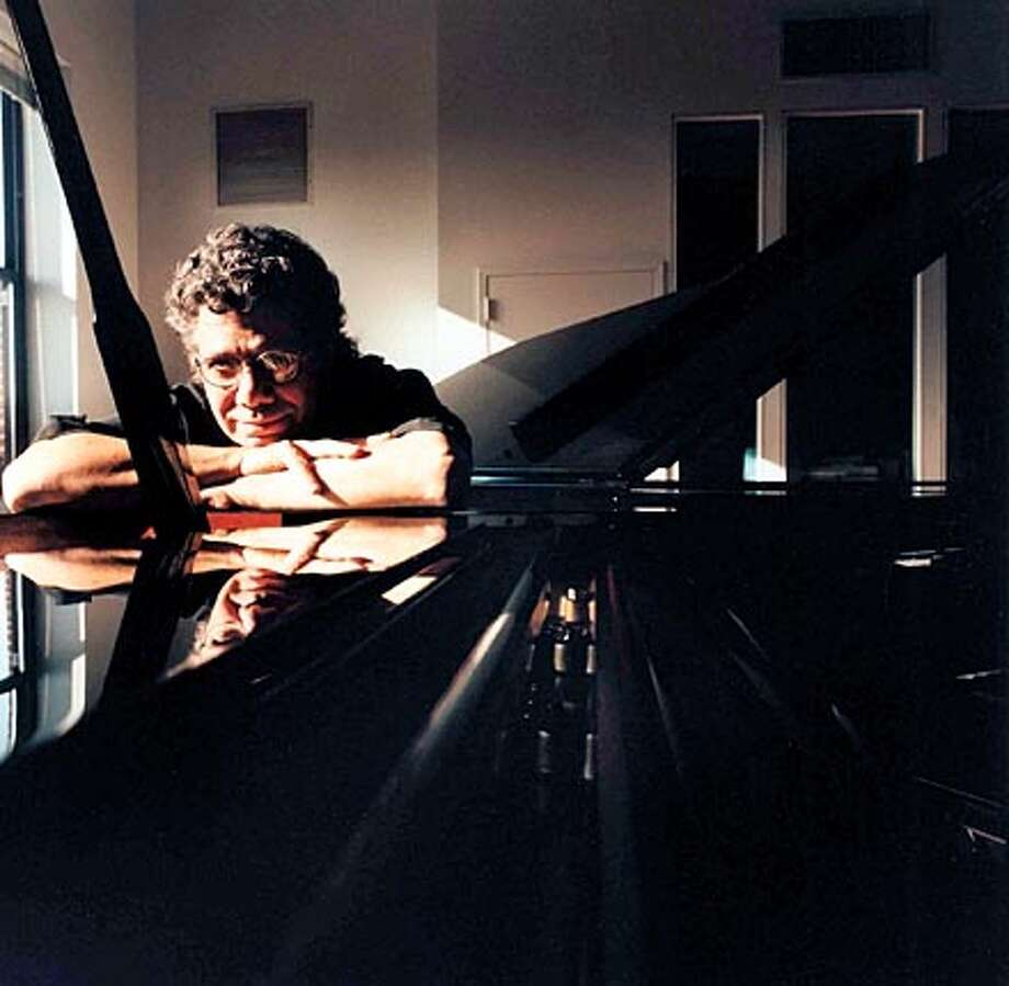 Chick Corea  for Sunday Datebook/pink. 04-24-05