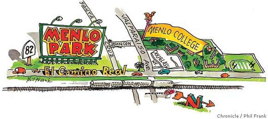 Menlo Park Neighborhoods. Chronicle illustration by Phil Frank