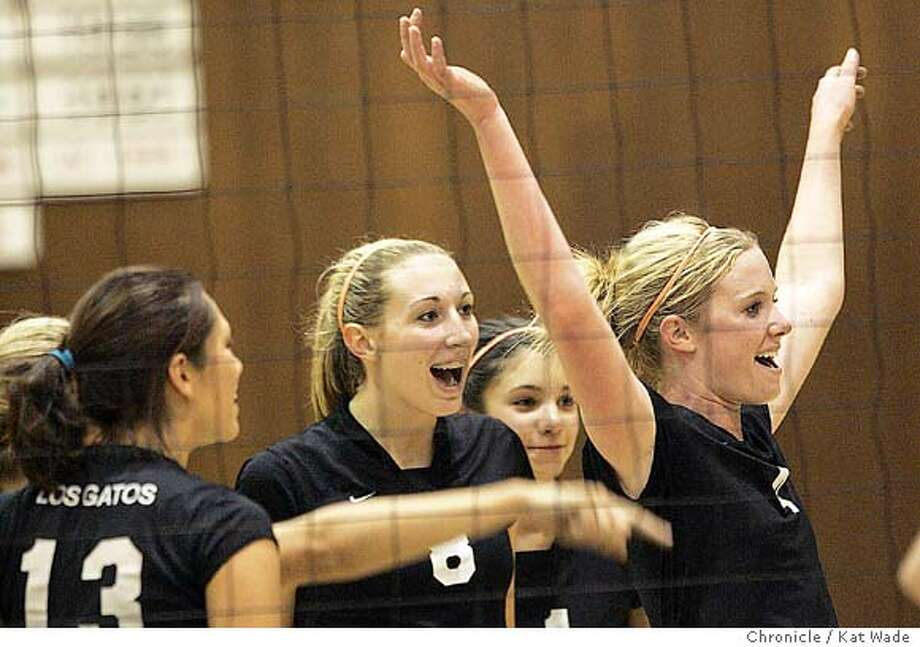 On 10/20/04 in Palo Alto Alexa Anderson------ Anderson, is an outside hitter on the Los Gatos High School varsity volleyball team who overcame a career-threatening knee injury to lead the nation's 37th-ranked volleyball team to a great season. Chronicle Photo by Kat Wade Photo: Kat Wade