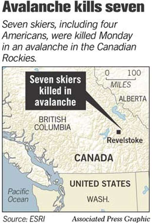 Avalanche Kills Seven. Associated Press Graphic