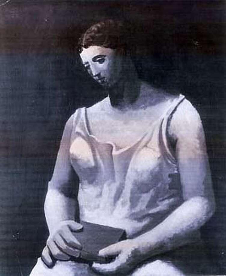 """PICASSO-C-26DEC02-MT-HO Picasso's """"Femme en Blanc"""" (1922) HANDOUT PHOTO CAT Datebook#Datebook#Chronicle#10/28/2004##Advance##421828483 Photo: HANDOUT"""