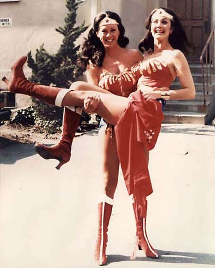 "Stuntwoman Jeannie Epper (left) and Lynda Carter (the real Wonder Woman) in a still from�""Double Dare,"" a documentary by Amanda Micheli of San Francisco that is screening at the Sonoma Valley Film Festival."