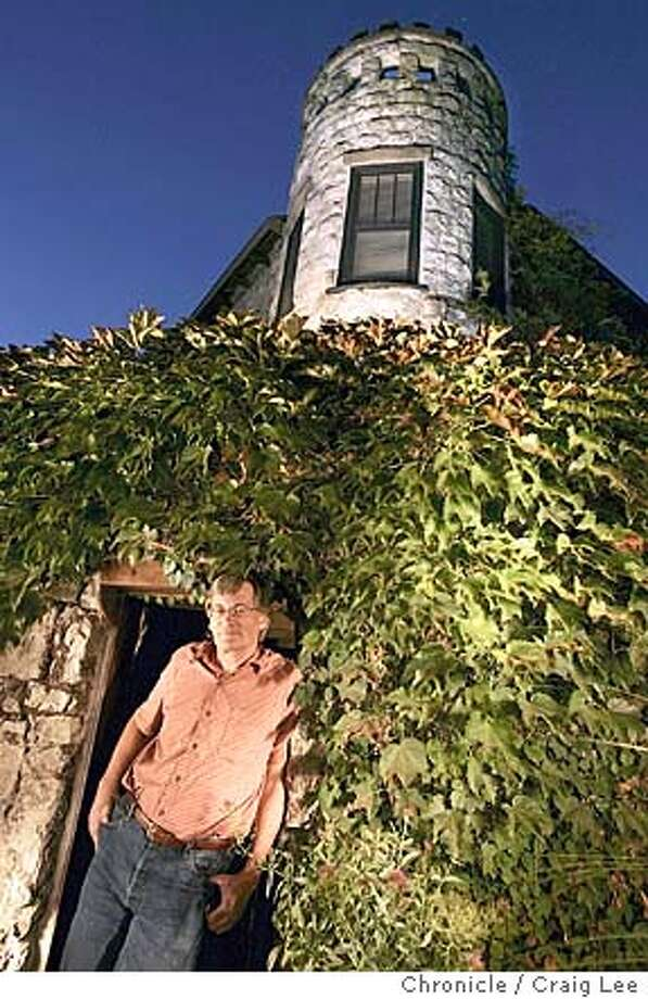 Story on haunted wineries. Robert Brittan, winemaker at Stags' Leap Winery, who has seen a ghost at the Manor House at Stags' Leap Winery. Photo of Robert Brittan in front of the Manor House.  Event on 9/28/04 in Napa. Craig Lee / The Chronicle MANDATORY CREDIT FOR PHOTOG AND SF CHRONICLE/ -MAGS OUT Wine#Wine#Chronicle#10/28/2004##Advance##0422387727 Photo: Craig Lee