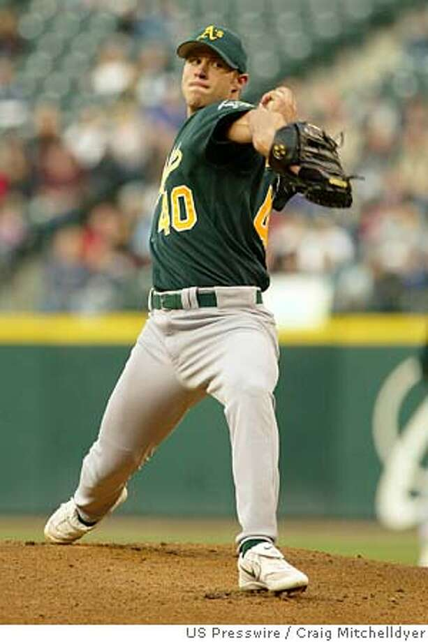 April 21, 2005; Seattle, WA USA; Oakland's Rich Harden pitches during the first inning on Thursday April 21, 2005 at Safeco Field in Seattle, WA. Mandatory Credit: Photo by Craig Mitchelldyer-US PRESSWIRE (c) 2005 by Craig Mitchelldyer Photo: Craig Mitchelldyer-US PRESSWIRE