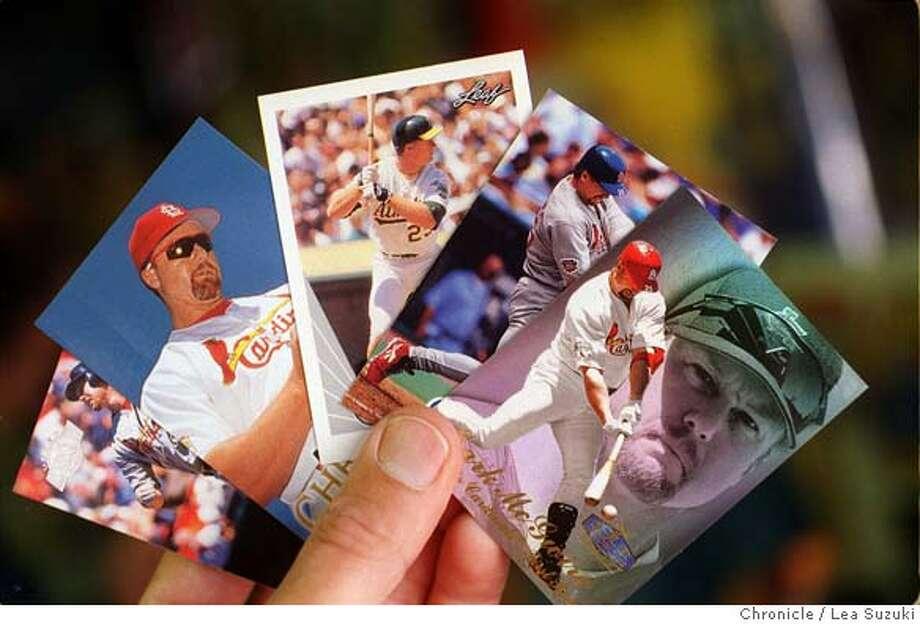 CARDS/C/09SEP98/MN/FRL --- Mark McGwire Baseball cards. Chronicle Photo By Lea Suzuki Photo: LEA SUZUKI